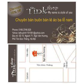 Bản đồ đến Tink Shop mua sắm online Thời trang Nam