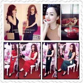 V140- Đầm maxi ba lỗ Chất thun dầy dặn, các màu: đen - be - đỏ - xanh Giá 200K mua sắm online Thời trang Nữ