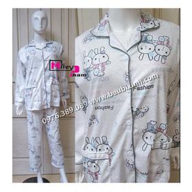 BỘ COTTON QC PIJAMA THỎ Đ&OcircI TIM mua sắm online Thời trang, Phụ kiện