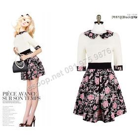 B132 - Váy liền Hàn Quốc dáng xòe mua sắm online Thời trang Nữ
