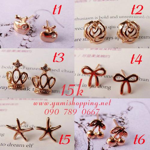 Chuyên sỉ lẻ phụ kiện trang sức Hàn Quốc : bông tai 15k, dây chuyền, vòng cổ 90k 150k - 10