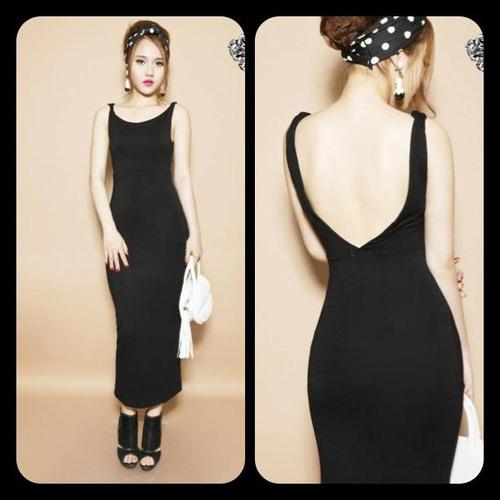 Chuyên váy thun dài, khoét lưng, ôm, xẻ tà các kiểu Sỉ lẻ Ảnh số 28960399