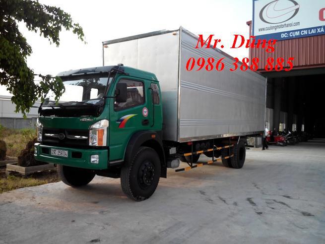 Xe thùng 8 tấn 7 tấn cửu long, giá xe ô tô tải cửu long 1,25t 3.45 tan 4,95 tấn 6,2 tấn, bán xe ben 950kg giá rẻ nhất Ảnh số 29100565