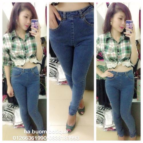 Jeans Vnxk ,Jeans rách , cạp đúc , cạp cao , skinny jeans với mẫu mã đẹp và chất lượng hợp lý.đồng giá 270.000đ Ảnh số 29462763