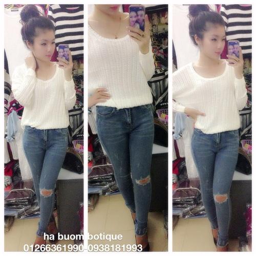 Jeans Vnxk ,Jeans rách , cạp đúc , cạp cao , skinny jeans với mẫu mã đẹp và chất lượng hợp lý.đồng giá 270.000đ Ảnh số 29462765