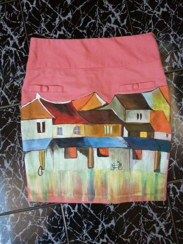 Váy vẽ tay bằng sơn dầu bền đẹp , sang trọng vì kog có tg mở shop mình bán hàng ở nhà ,không mất phí gì cả nên giá rẻ Ảnh số 29843844