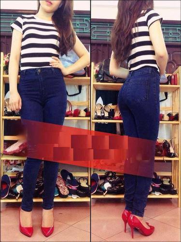 Jeans Vnxk ,Jeans rách , cạp đúc , cạp cao , skinny jeans với mẫu mã đẹp và chất lượng hợp lý.đồng giá 270.000đ Ảnh số 30037020