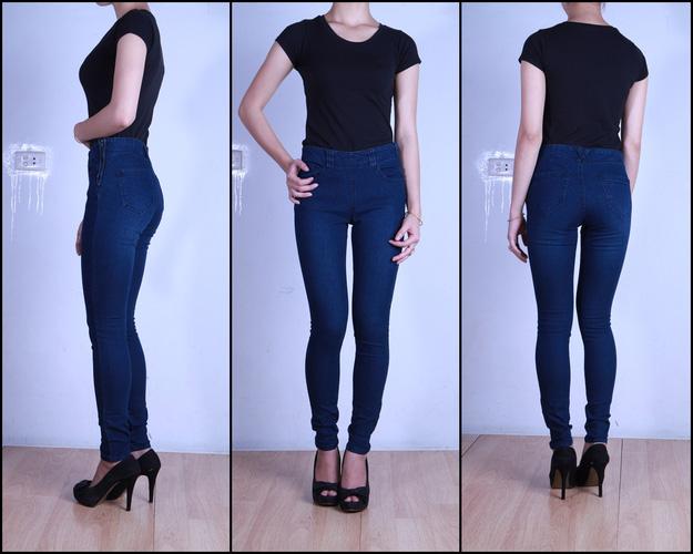 Jeans Vnxk ,Jeans rách , cạp đúc , cạp cao , skinny jeans với mẫu mã đẹp và chất lượng hợp lý.đồng giá 270.000đ Ảnh số 30037025