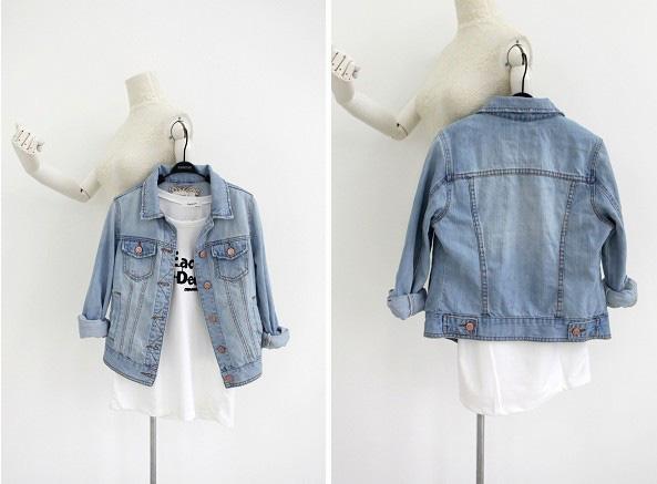 Áo khoác jean nữ, sơ mi jean nữ form đẹp, giá rẻ Ảnh số 30335717
