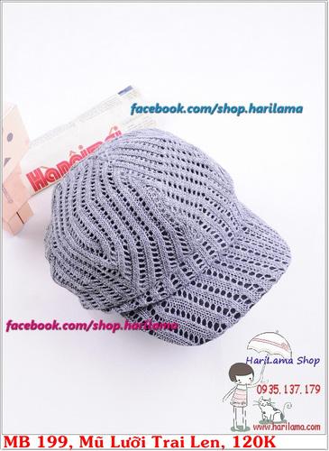 Mũ Len Nữ, Mũ Len Nam, Mũ Nữ nhiều kiểu dáng đẹp, chất lượng tốt. Hari Shop chuyên Khăn Găng Mũ Nam Mũ Nữ Mũ Len Nam Nữ Ảnh số 30389702