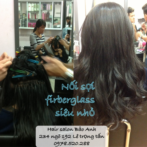 SALON BẢO ANH.Nối tóc tại nhà ,nối Sợi FiberGlass ko keo nối cực bền,đẹp, miễn phí nhuộm và ép tóc nối.Độ dài tuỳ ý. Ảnh số 30588503