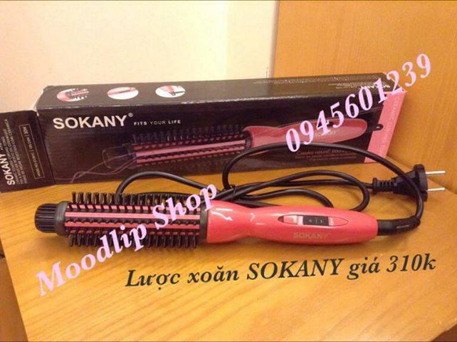 Lược điện SOKANY có tác dụng làm xoăn, uốn phồng, uốn cụp tóc rẻ nhất thị trường