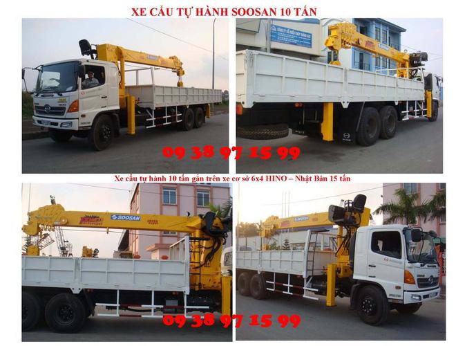 Đại lý bán xe cẩu tự hành Hino FM 15 tấn gắn cẩu Soosan SCS1015LS có sức nâng 12 tấn mới 100 đời 2014 giá rẻ nhất Ảnh số 31597947