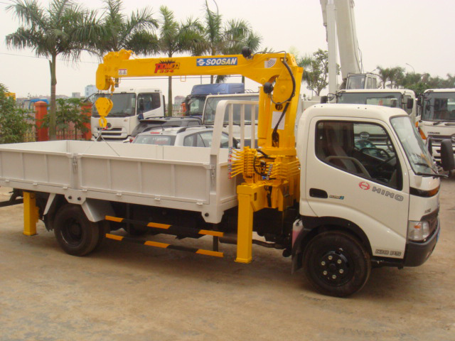 Đại lý bán xe cẩu tự hành Hino FM 15 tấn gắn cẩu Soosan SCS1015LS có sức nâng 12 tấn mới 100 đời 2014 giá rẻ nhất Ảnh số 31598118