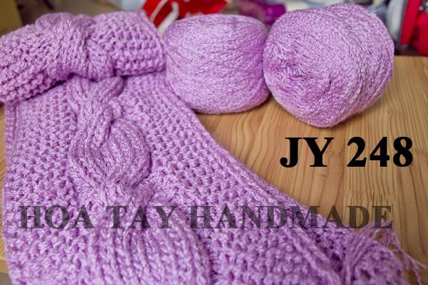 Len sợi, phụ liệu đan móc: chỉ cotton, len Nhật, len Hàn, len 1 sợi, cotton Nhật, Cotton Hàn, kim móc, kim đan... Ảnh số 32218184