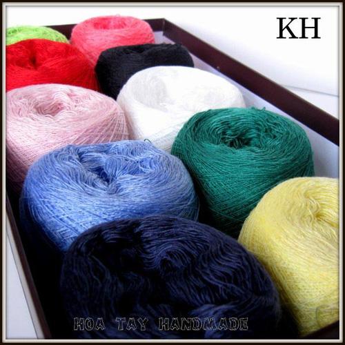 Len sợi, phụ liệu đan móc: chỉ cotton, len Nhật, len Hàn, len 1 sợi, cotton Nhật, Cotton Hàn, kim móc, kim đan... Ảnh số 32218407