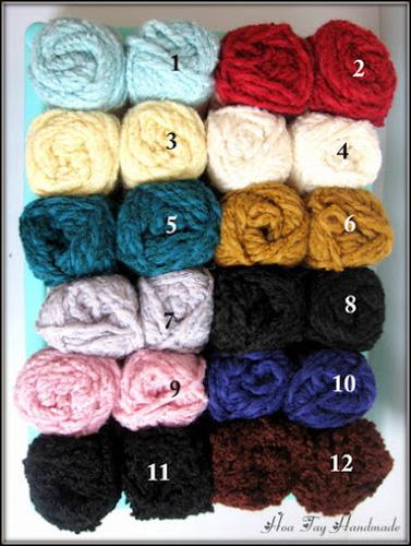 Len sợi, phụ liệu đan móc: chỉ cotton, len Nhật, len Hàn, len 1 sợi, cotton Nhật, Cotton Hàn, kim móc, kim đan... Ảnh số 32218445