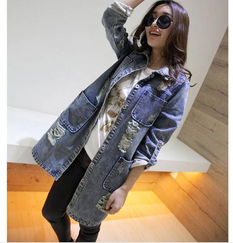 Áo khoác jean nữ, sơ mi jean nữ form đẹp, giá rẻ Ảnh số 32806164