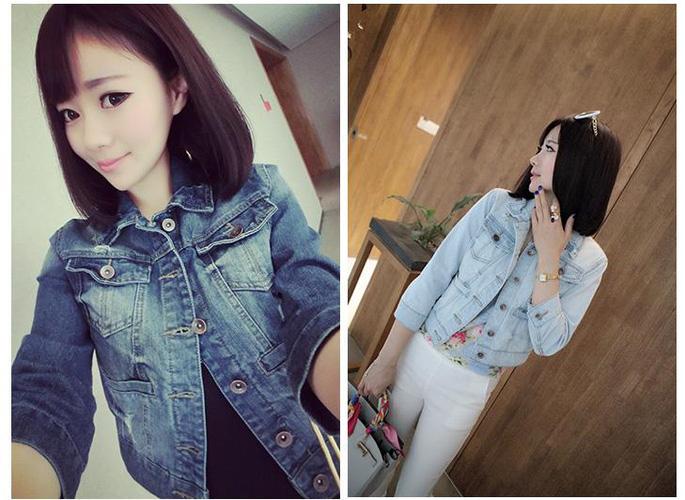 Áo khoác jean nữ, sơ mi jean nữ form đẹp, giá rẻ Ảnh số 32883315