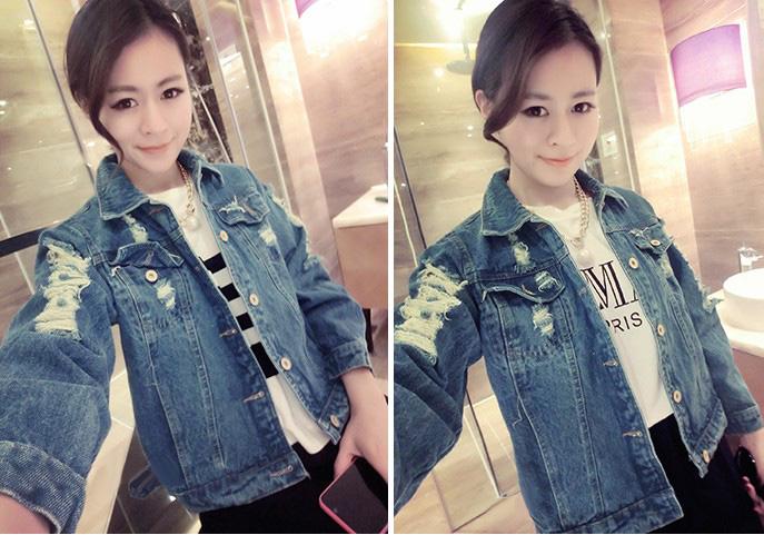 Áo khoác jean nữ, sơ mi jean nữ form đẹp, giá rẻ Ảnh số 32883322