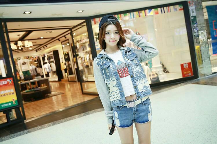 Áo khoác jean nữ, sơ mi jean nữ form đẹp, giá rẻ Ảnh số 32883334