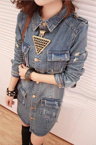 Áo khoác jean nữ, sơ mi jean nữ form đẹp, giá rẻ Ảnh số 32899425