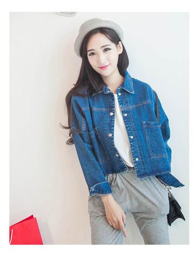 Áo khoác jean nữ, sơ mi jean nữ form đẹp, giá rẻ Ảnh số 32899426
