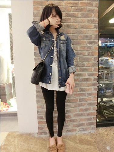 Áo khoác jean nữ, sơ mi jean nữ form đẹp, giá rẻ Ảnh số 32899427