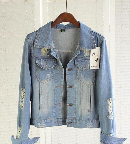 Áo khoác jean nữ, sơ mi jean nữ form đẹp, giá rẻ Ảnh số 32986821
