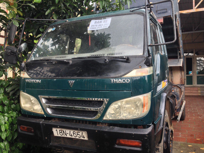 Bán 1 xe ben cũ Thaco Trường Hải 6 tấn 1 cầu đời 2008 xe cực chất giá 175 triệu đồng. Ảnh số 33145699