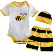 Ảnh số 77: bộ liền sơ sinh con ong gồm áo body kiền + quần + mũ - Giá: 190.000