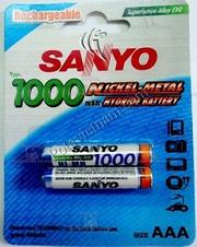 Ảnh số 8: Pin sạc điện, Pin đũa AAA, Pin NiMH, Pin 1.5V, Pin1000 mAh, Pin sạc SANYO HR4U/2BP (1 Vỉ/ 2 Viên pin sạc) - Giá: 148.000