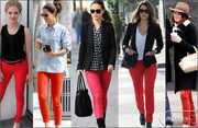Womens Red Jeans