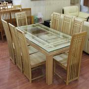 Ảnh số 2: bàn ăn gỗ Sồi Nga - Giá: 8.900.000