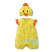 Ảnh số 35: Bộ áo liền quần kèm nón gà con  dễ thương - Giá: 190.000