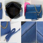 Ảnh số 6: Zara da thật màu xanh côban - Giá: 700.000