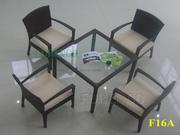 Ảnh số 14: Bàn ghế cafe mây nhựa F16 - Giá: 490.000