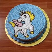 Bánh sinh nhật vẽ hình dễ thương nguyên liệu tươi