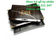 Ảnh số 2: Khay trà gỗ tự nhiên - Giá: 490.000
