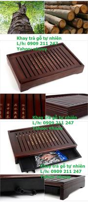 Ảnh số 3: Khay trà gỗ tự nhiên - Giá: 490.000