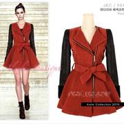 Ảnh số 2: Áo dạ giả váy tay da - Giá: 1.050.000