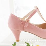 Ảnh số 15: Giày búp bê nơ có dây dọc màu hồng - Giá: 320.000