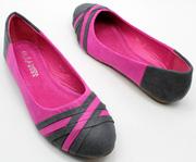 Ảnh số 25: Giày búp bê mũi chéo cách điệu xanh - Giá: 280.000