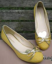 Ảnh số 26: Giày búp bê thắt nơ trái tim vàng - Giá: 280.000