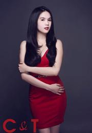 Ảnh số 15: Đầm đỏ cúp ngực 2 quai da NGỌC TRINH - Giá: 420.000