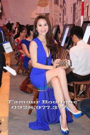 Ảnh số 21: Đầm dạ hội xanh sát nách cổ V THÁI HÀ - DT 369 - Giá: 600.000
