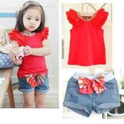 Ảnh số 92: Bộ áo thun quần short Jean bé gái cực xinh - Giá: 255.000