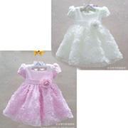 Ảnh số 73: Đầm voan hoa hồng cao cấp cực xinh cho bé từ 9-15 ký - Giá: 380.000
