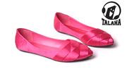 Ảnh số 52: Giày bup bê satin mũi đan chéo thời trang  B014 - Giá: 320.000
