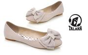 Ảnh số 71: Giày bup bê nơ công chúa lông mịn B018 - Giá: 260.000
